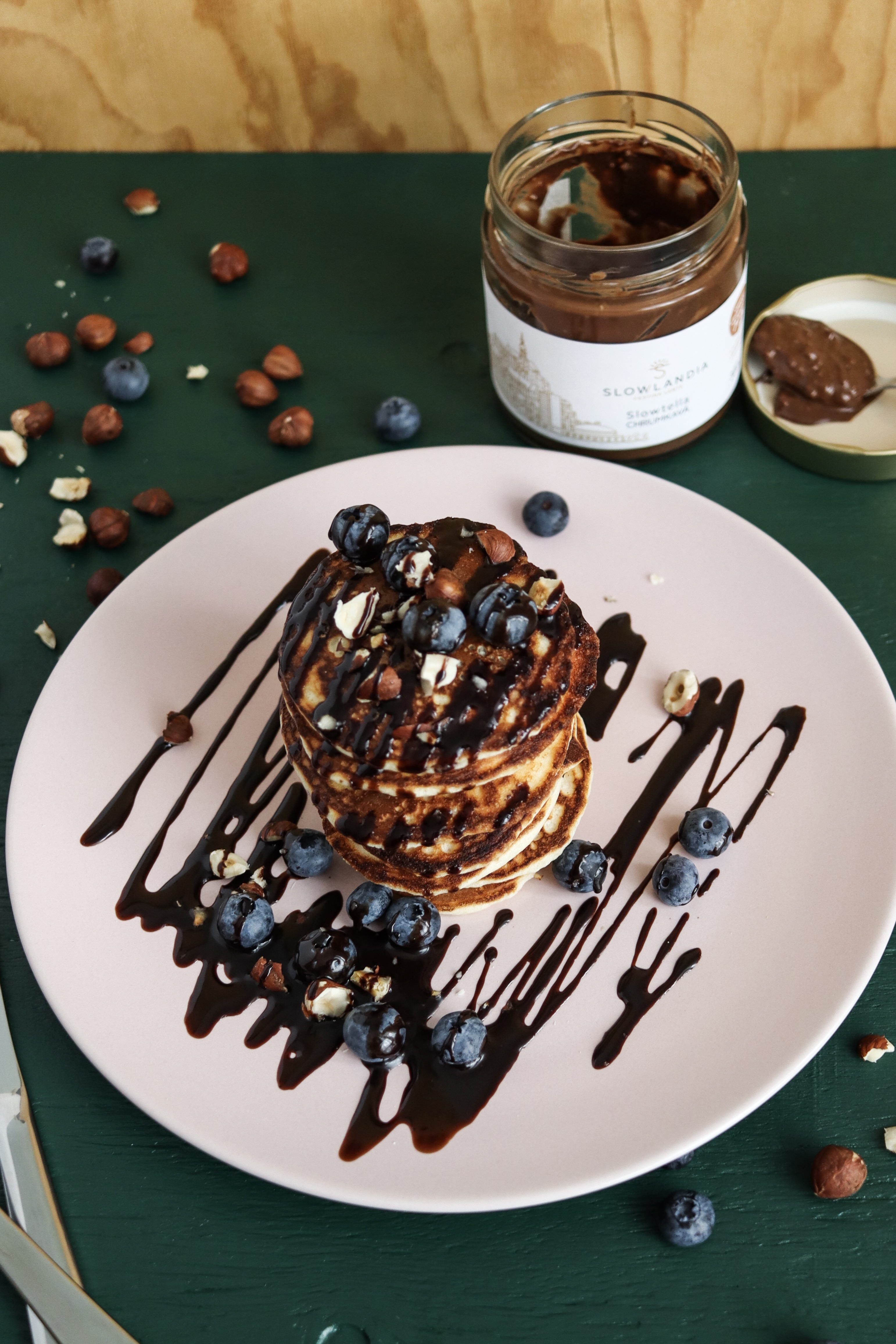Vanilkové lievance s čučoriedkami